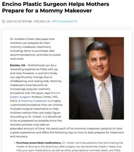 Dr. Andrew Cohen provides key tips for mothers wanting to prepare for a Mommy Makeover procedure.